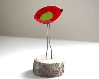 Bird fused glass Bird, Fusing glass bird Luluverre Creation, handmade, made in Quebec