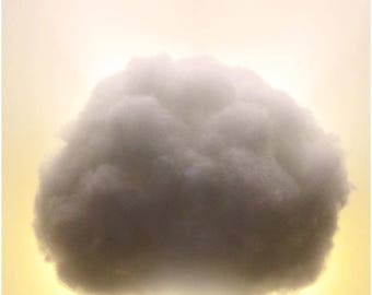 "Baby Sized Cloud Light with Swarovski Crystal ""Rain Drops"""