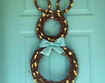 FREE SHIPPING!!! Easter Bunny Wreath