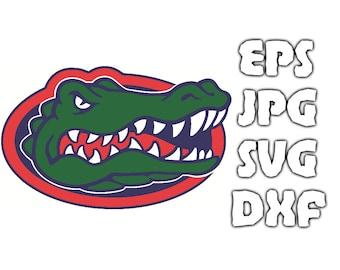 Florida Gators logo SVG - Vector Design in Svg Eps Dxf Jpeg Format INSTANT DOWNLOAD