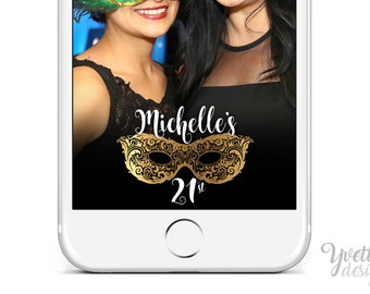Masquerade Party Snapchat Geofilter | Birthday | Custom
