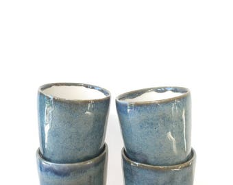 Ceramic blue espresso coffee cup