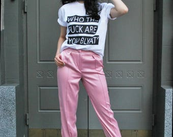 Pink pink trousers