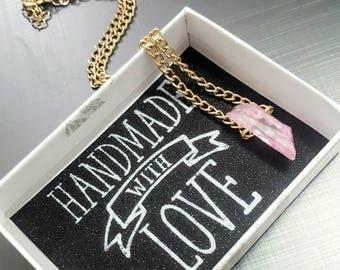 Rose Quartz Necklace, Crystal Necklace Pendant, Pendant Crystal Necklace, Pink Necklace, Rose Necklace, Quartz Necklace, Rose Quartz, Pink
