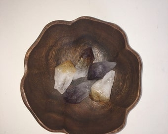 Wood flower bowl