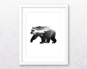 Bear Art Print | Bear Wall Art | Bear Print | Bear Decor | Bear | Bear Illustration | Animal Art Print | Bear Wall Decor | Bear Printable