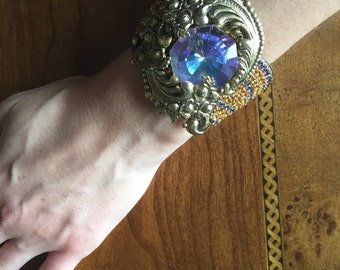 Couture crystal cuff bracelet