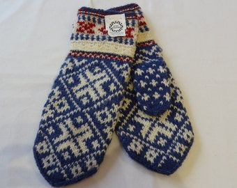 hand knitted, wool mittens, patterned mittens, Winter mittens, knitted folk mittens, wool mittens