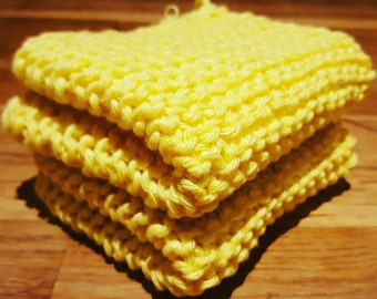 Hand knitted dish/face cloth