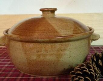 Light Rust pottery casserole,  pottery casserole,  ceramic casserole,  hand thrown casserole,  pottery bakeware, pottery serving dish