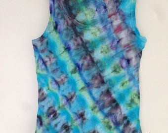 Green and blue ice dyed tank top