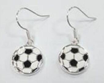 Soccer Ball Disc Earrings