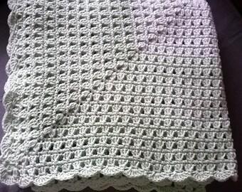 Baby crochet cover made love, handmade