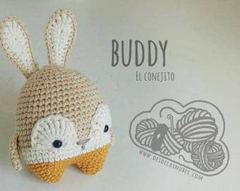 Buddy, Bunny made with pattern Lalylala amigurumi