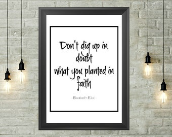 Faith Quote Printable 8x10, Instant Download