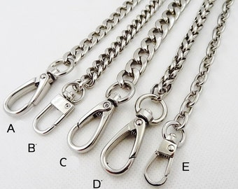 silver Chain Strap purse strap handles bag hadnbag Purse Replacement Chains Purse  Finished Chain straps High Quality