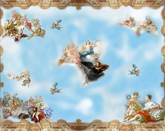 1:12 Dollhouse Toscano Collection Ceiling Panel (one)