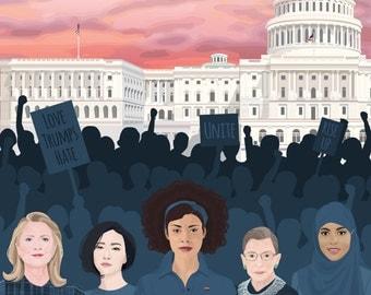 Women's March on Washington 7x5 Postcard - Digital File