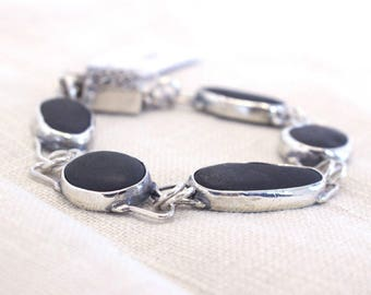 Sterling & River stones bracelet
