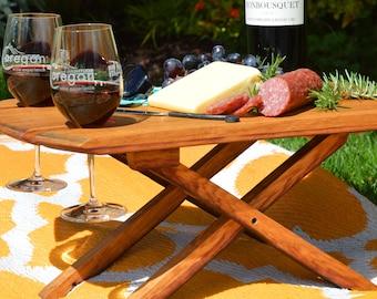 Boho Britt Wine Barrel Concert Picnic Table