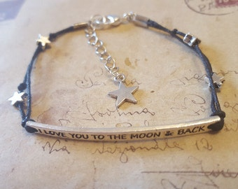 I love you to the moon & back - strap-black-