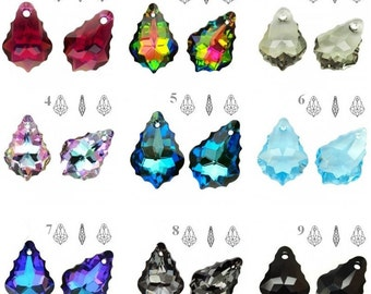 6090 Swarovski Baroque 16mm x 11mm Swarovski Crystals perfect for earwires and pendants