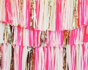 Choose Your Colours Custom made Tassel Garland BackDrops wedding prop baby shower