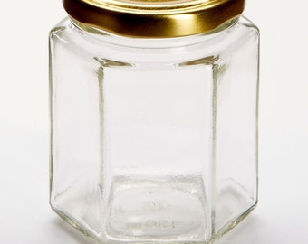 108 x 8OZ / 196ML Hexagonal glass jam honey candle jar