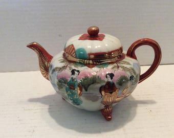 Nippon Tohina E-OH Japanese Geisha Hand Painted Teapot