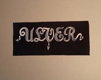 Ulver patch white logo black metal Vargnatt