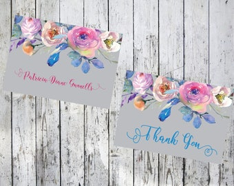 Lovely Flowers Thank You Note Card