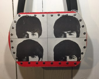 The Beatles - A Hard Day's Night vinyl record purse