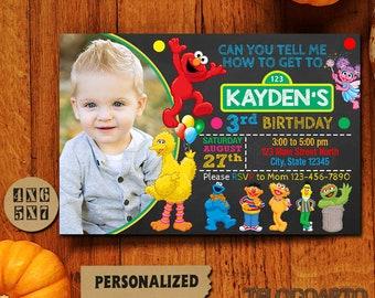 Sesame Street / Sesame Street Invitations / Sesame Street Invitation / Sesame Street Birthday Invitation / Sesame Street Party / Sesame