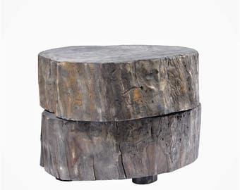wood slices table, large wood slices coffee table, rustic coffee table, home decor table, wood coffee table, natural wood coffee table