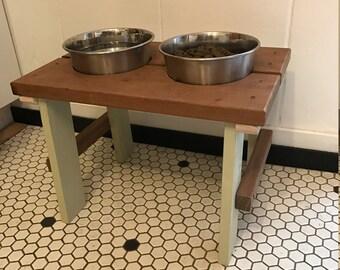 Handmade Dog Feeder