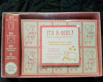 "Birth Announcement Kit - ""It's A Girl!"""
