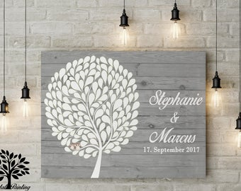 70 x 50 cm, wedding gift, vintage, boho, rustic guestbook
