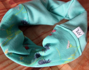 Reversible infinity scarf 6-36 months - flowers