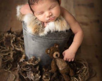 Felted Teddy Bear Newborn Photography Prop