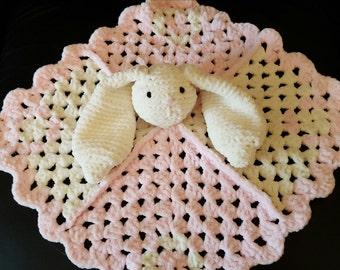 Bunny lovey. Baby lovey. Comforter.