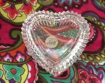 Cristal d'Arques Heart shaped jewelry box