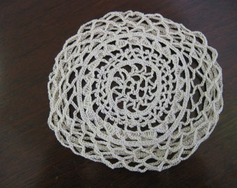 crespina hairnets crespinette, Scottish cotton crocheted doll cosplay costume, LARP, middle ages