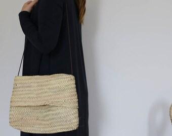 Straw cross-body bag, handbag, purse, clutch, eco friendly, beach bag, summer bag.