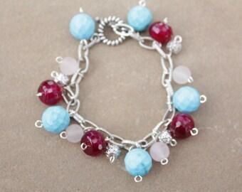 Turquoise Garnet Bracelet