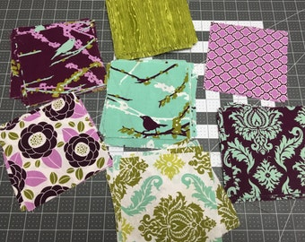 Fabric, Scraps, Joel Dewberry Aviary 2 in Lilac, Designer Fabric, Quilting Cotton, Craft Supplies & Tools, Sewing Supplies.