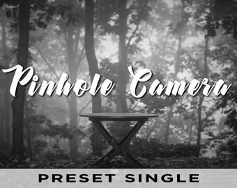 Pinhole Camera Preset - Individual Lightroom Preset - Monochrome Black and White