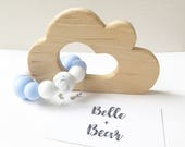 CLOUD Teether in Blue  Teething toy  Baby gift