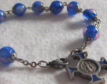 Beautiful Beaded Rosary Bracelet