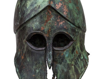 Rare Corinthian ancient Greek Helmet , museum-quality reproduction (microcasting handled)