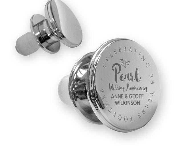 Personalised engraved PEARL 30th wedding anniversary deluxe wine bottle stopper gift idea, mirror polish - ANN30